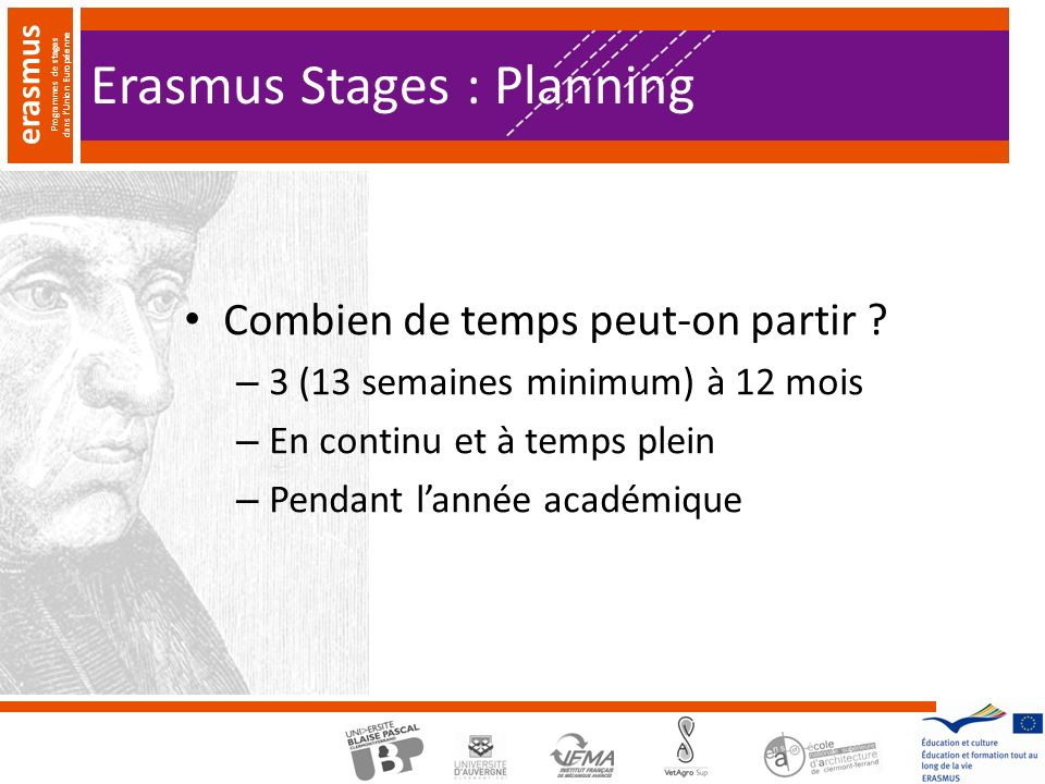 Erasmus Stages : Planning