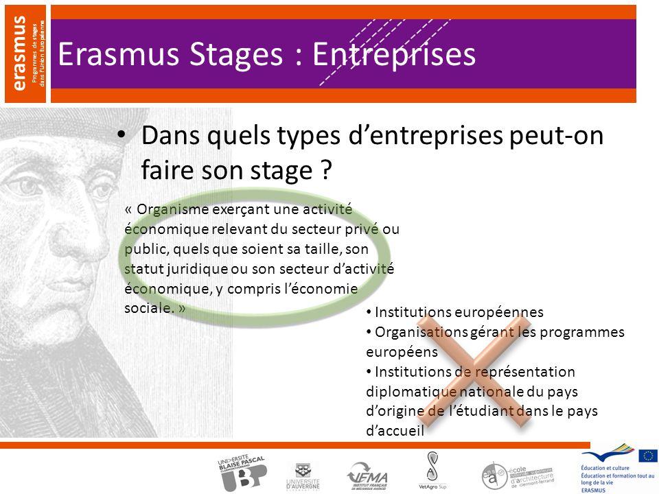 Erasmus Stages : Entreprises