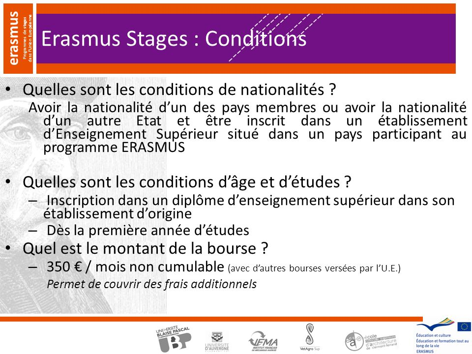 Erasmus Stages : Conditions