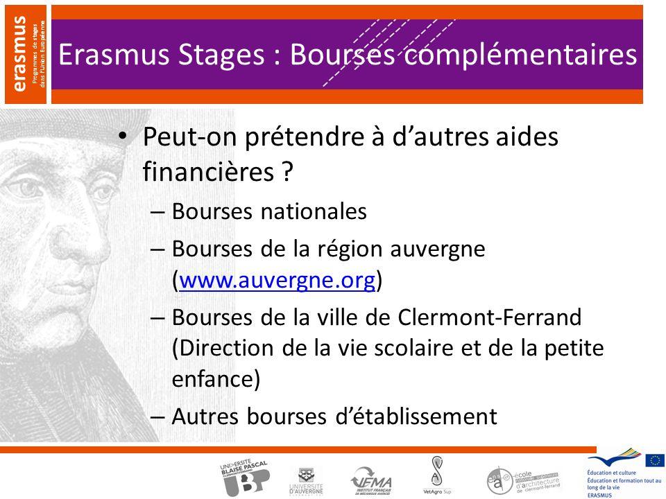 Erasmus Stages : Bourses complémentaires