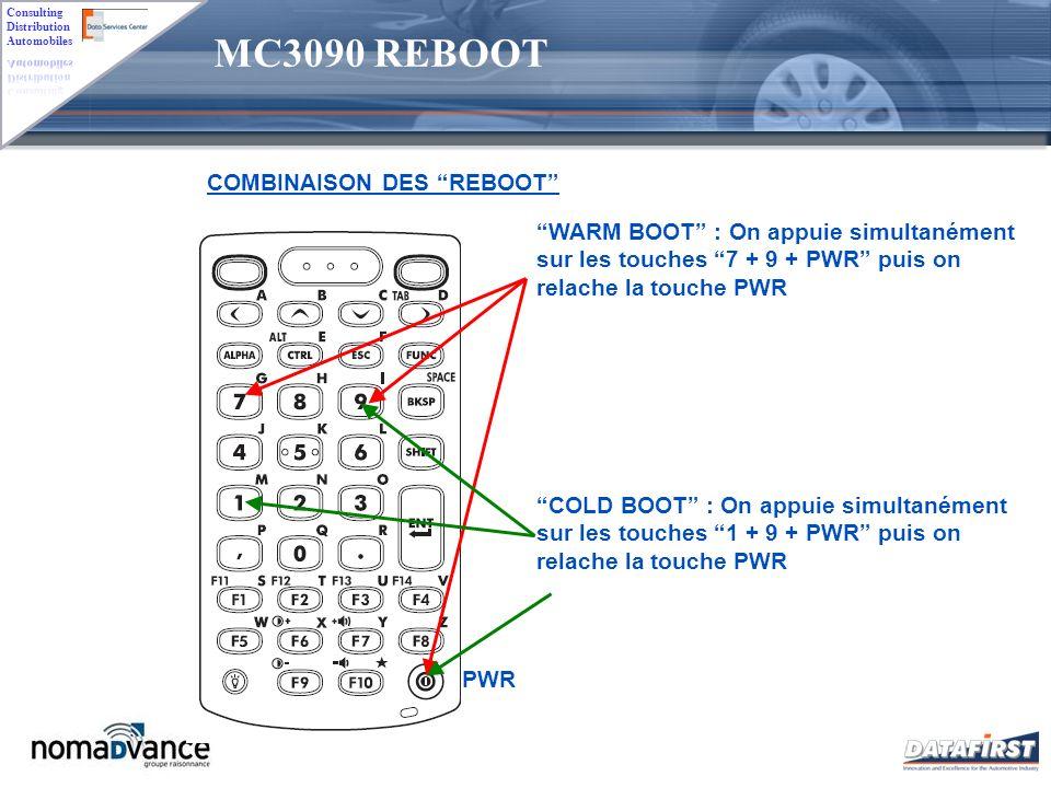 MC3090 REBOOT COMBINAISON DES REBOOT