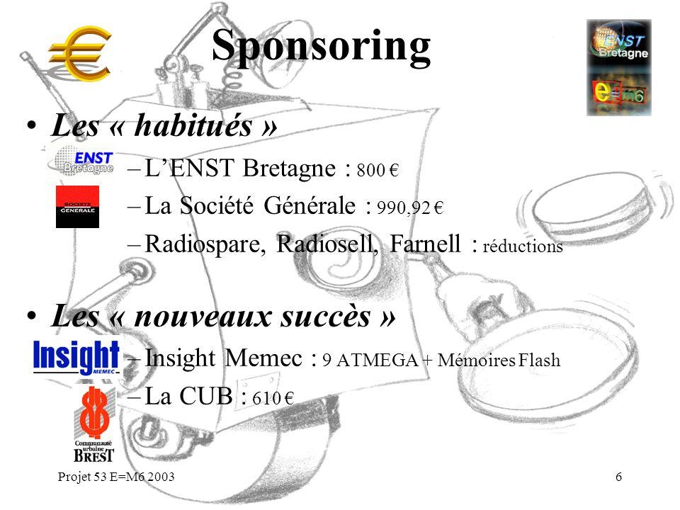 Sponsoring Les « habitués » Les « nouveaux succès »