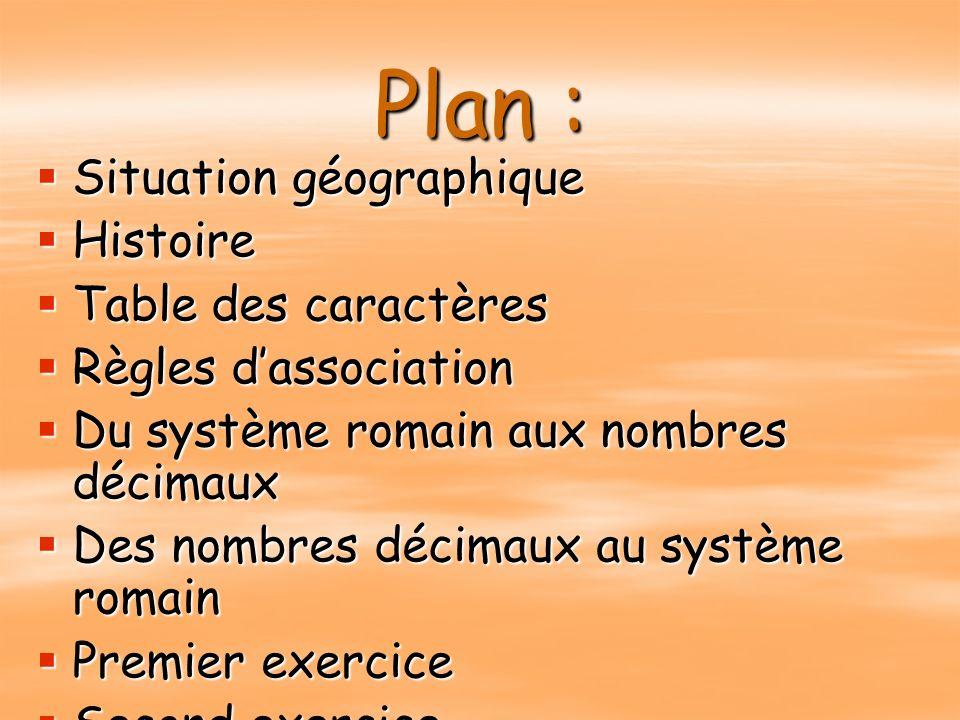 Plan : C'est parti ! Situation géographique Histoire