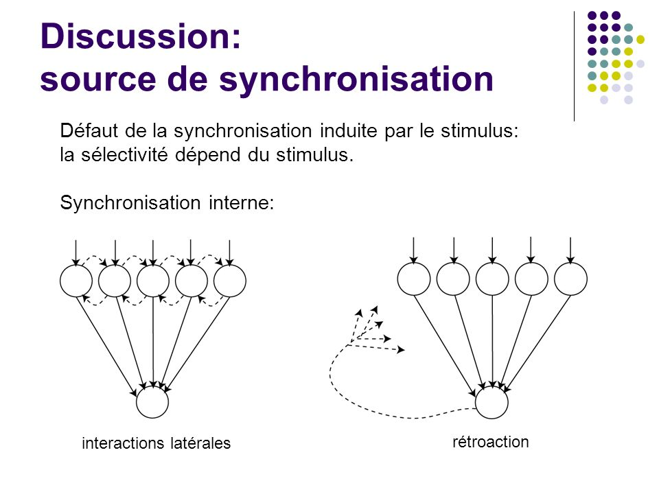 Discussion: source de synchronisation