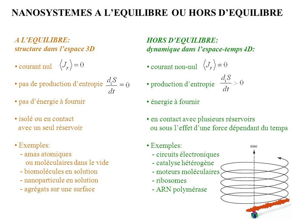 NANOSYSTEMES A L'EQUILIBRE OU HORS D'EQUILIBRE