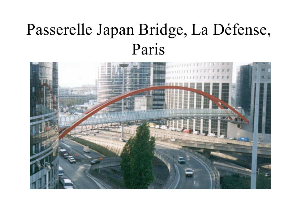 Passerelle Japan Bridge, La Défense, Paris