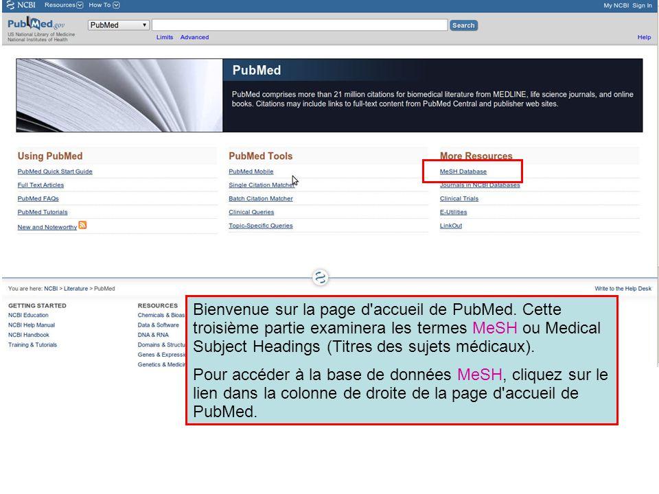 Bienvenue sur la page d accueil de PubMed
