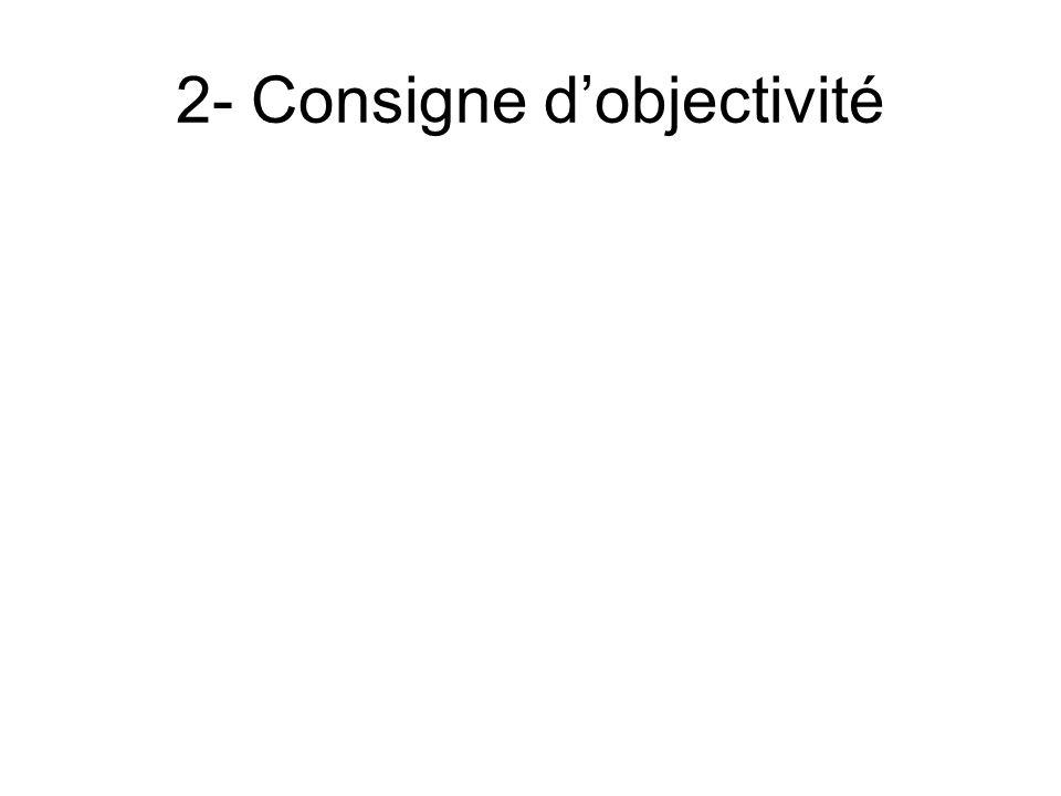 2- Consigne d'objectivité
