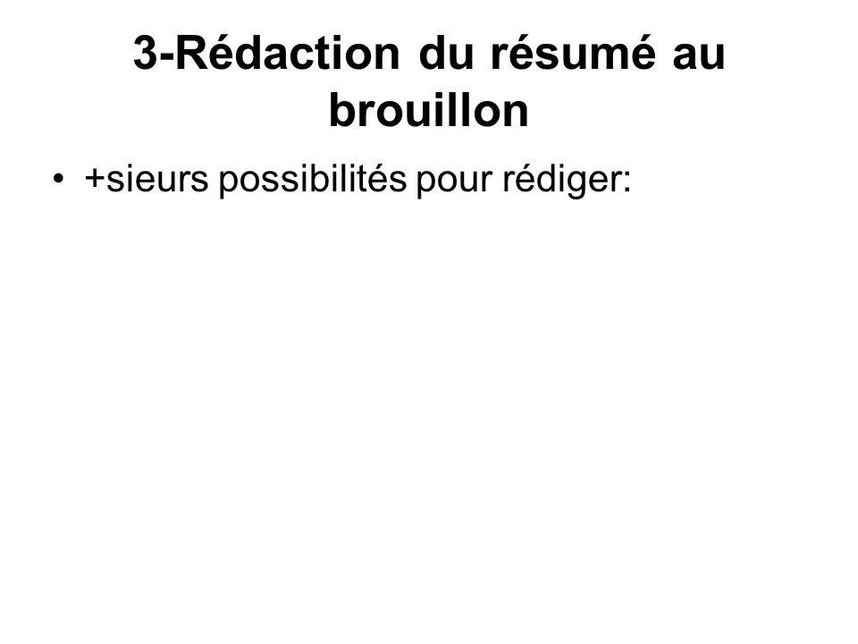 3-Rédaction du résumé au brouillon
