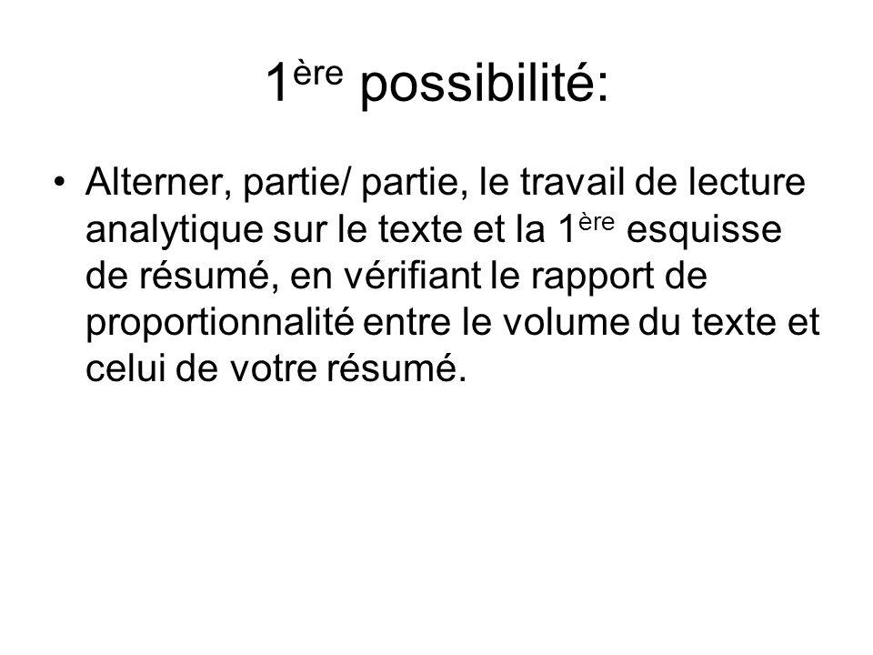 1ère possibilité: