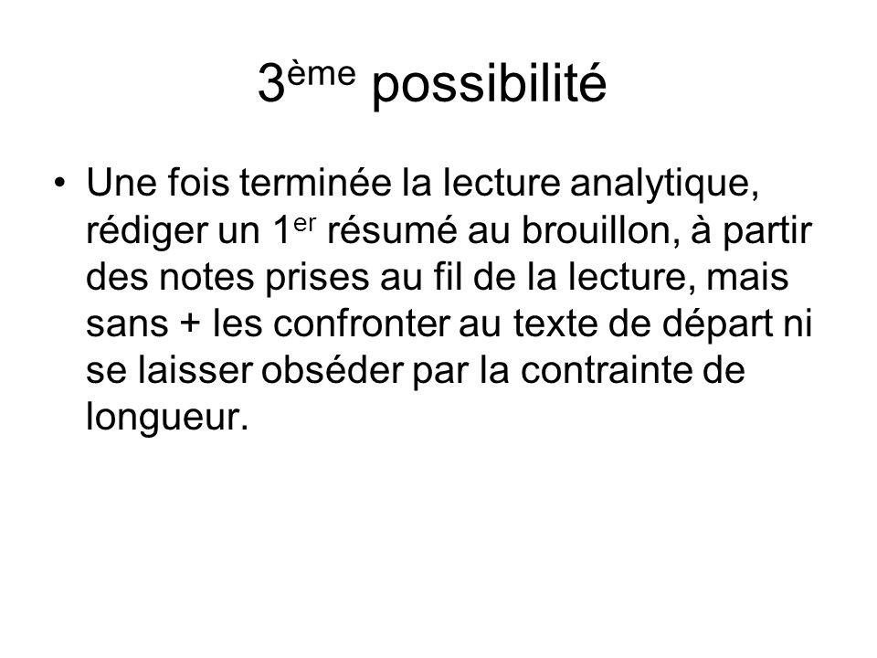 3ème possibilité