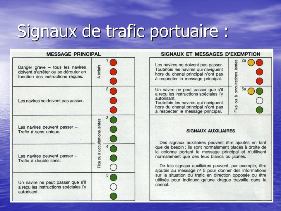 Signaux de trafic portuaire :