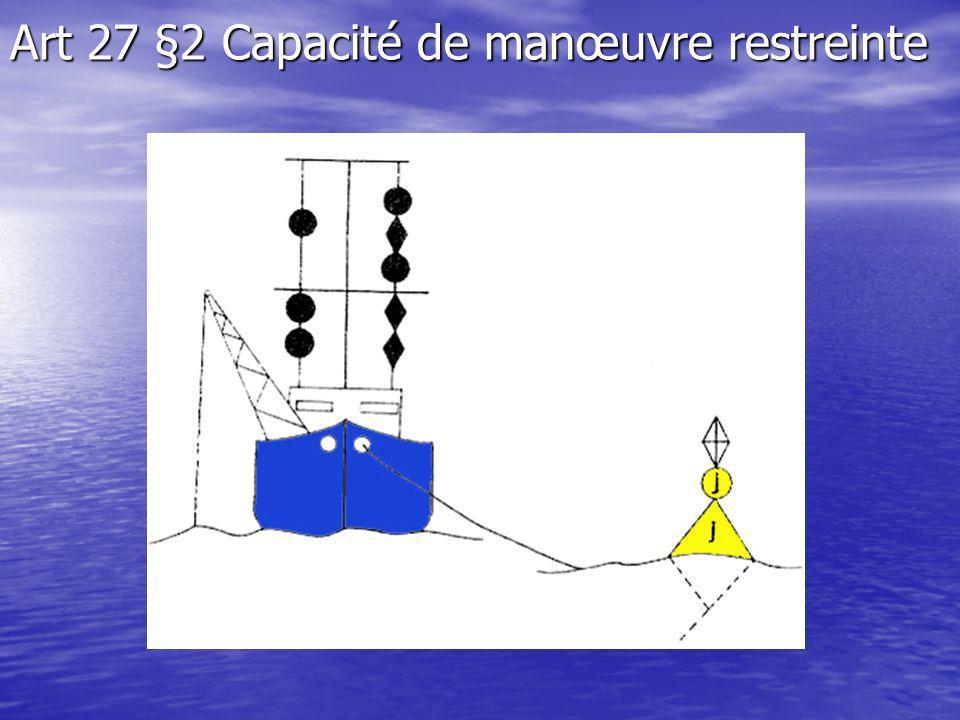Art 27 §2 Capacité de manœuvre restreinte