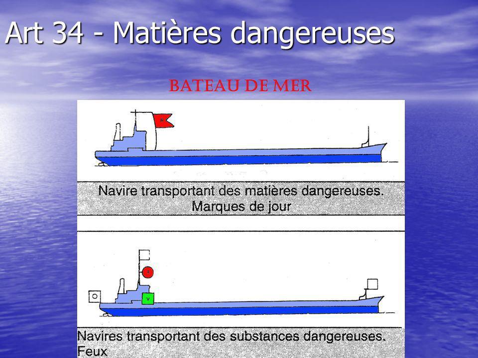 Art 34 - Matières dangereuses