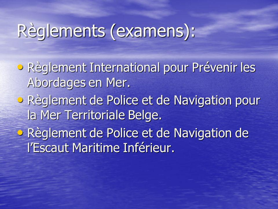 Règlements (examens):