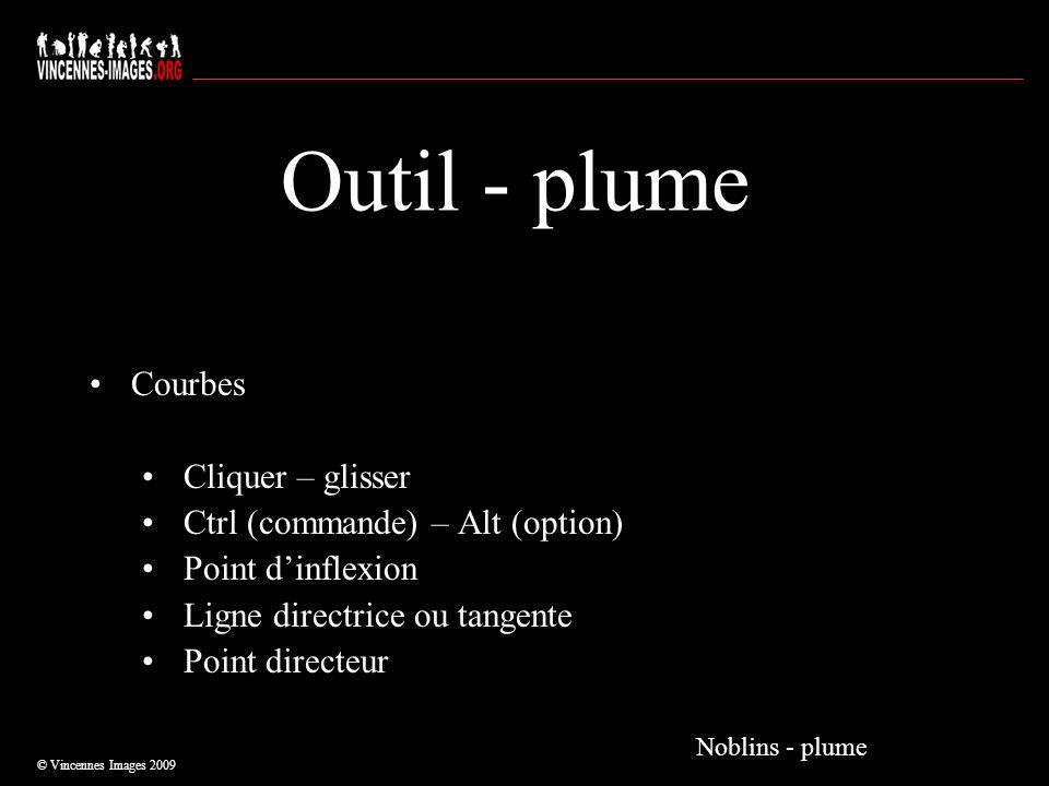 Outil - plume Courbes Cliquer – glisser Ctrl (commande) – Alt (option)
