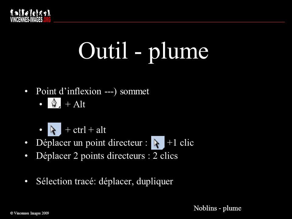 Outil - plume Point d'inflexion ---) sommet + Alt + ctrl + alt