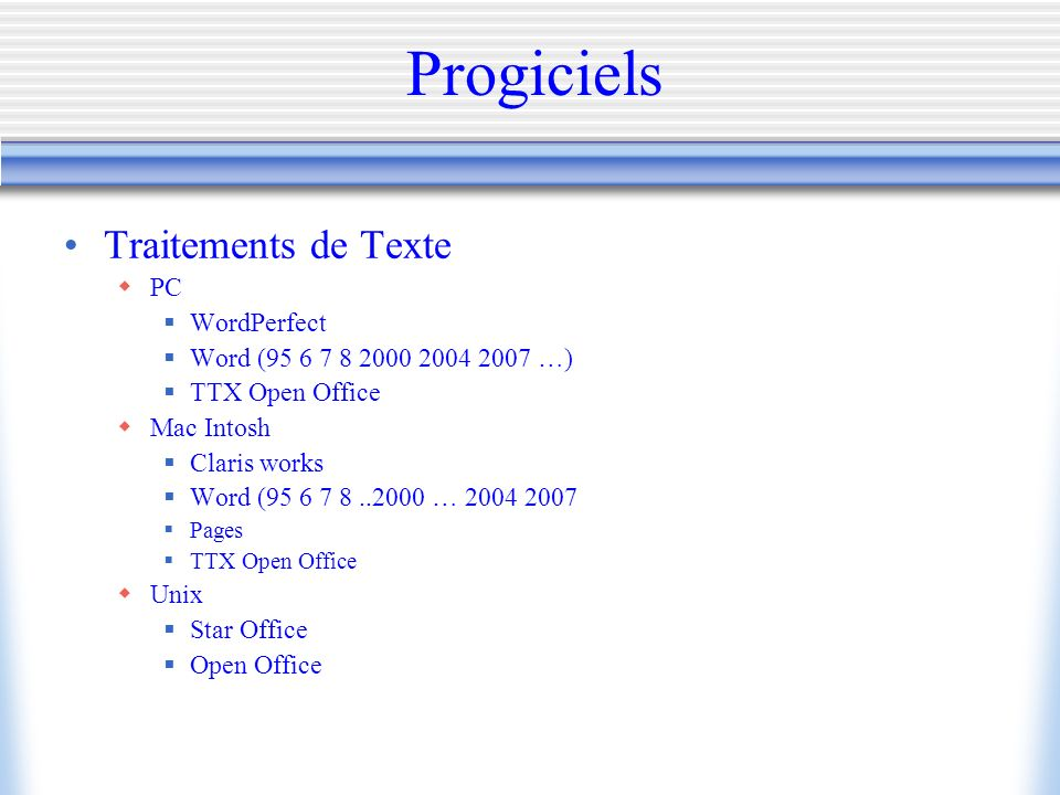 Bureautique facult de m decine universit rennes 1 ppt - Telecharger traitement de texte open office ...