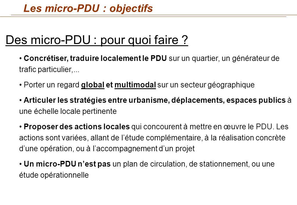 Des micro-PDU : pour quoi faire