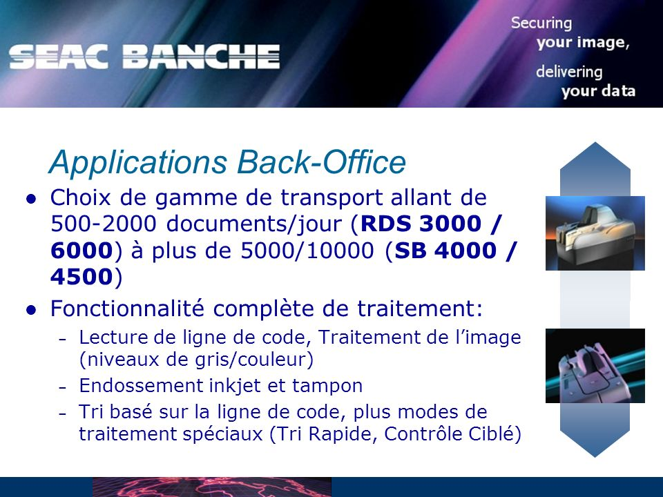Applications Back-Office