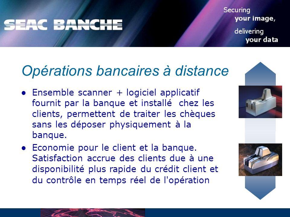 Opérations bancaires à distance