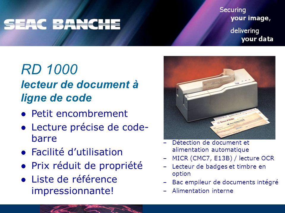 RD 1000 lecteur de document à ligne de code