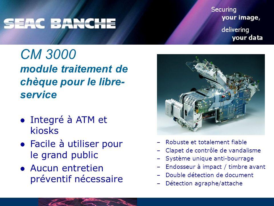 CM 3000 module traitement de chèque pour le libre-service