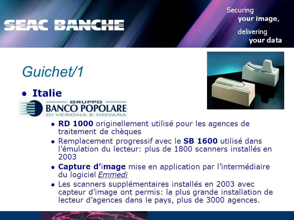 Guichet/1 Italie. RD 1000 originellement utilisé pour les agences de traitement de chèques.