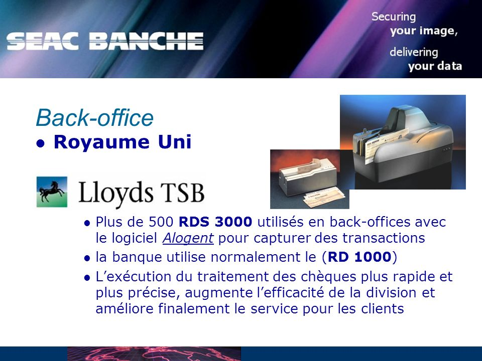 Back-office Royaume Uni
