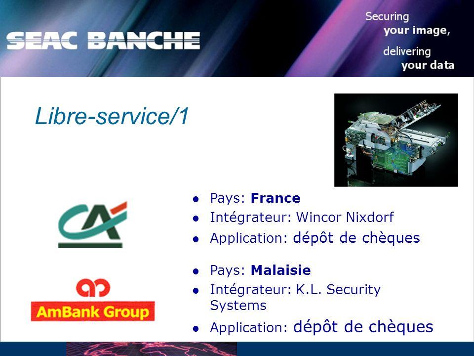Libre-service/1 Pays: France Intégrateur: Wincor Nixdorf
