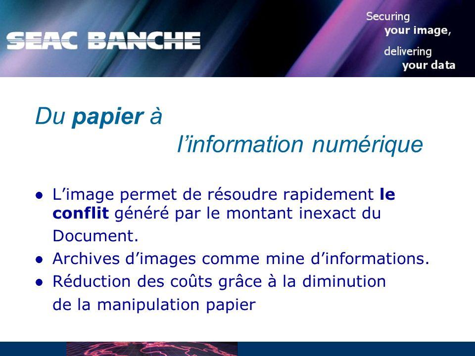 Du papier à l'information numérique