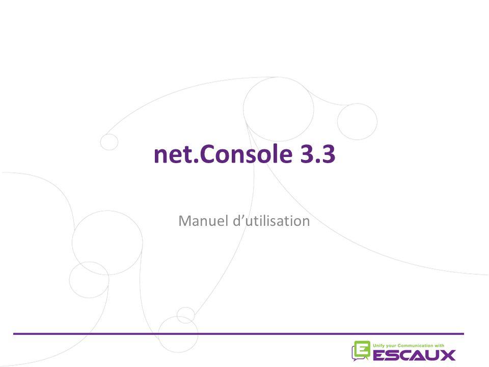 net.Console 3.3 Manuel d'utilisation 1 1