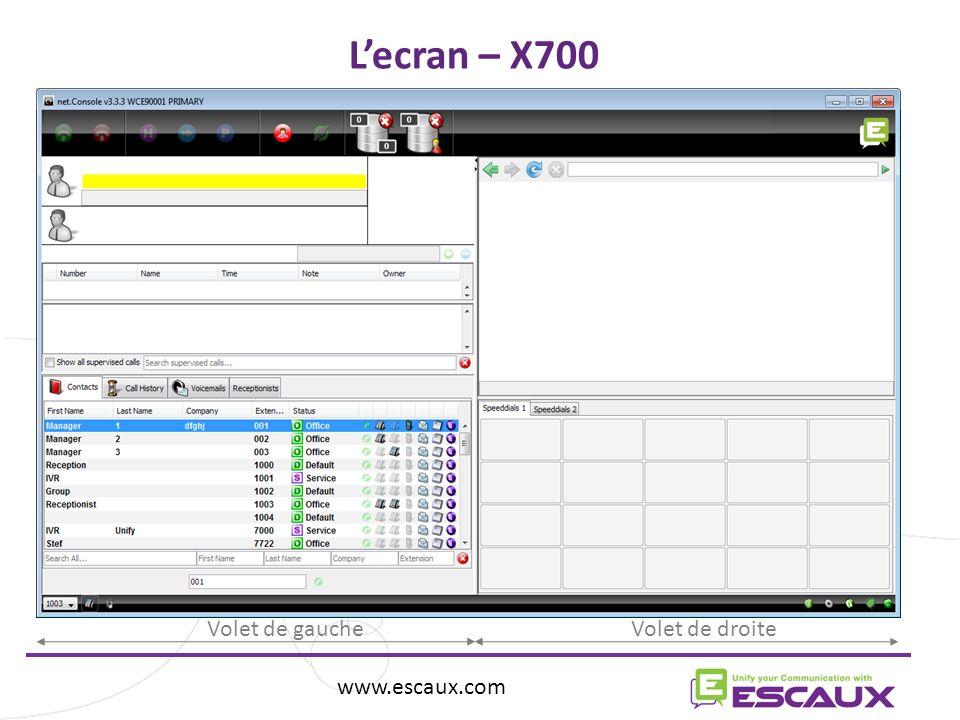 L'ecran – X700 Volet de gauche Volet de droite www.escaux.com