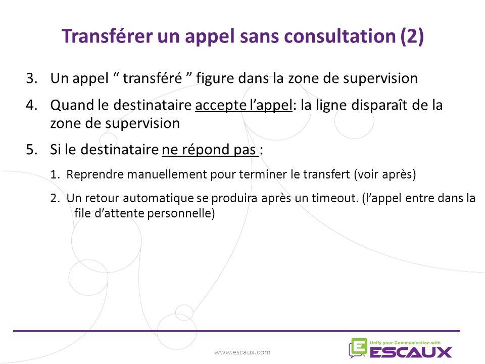 Transférer un appel sans consultation (2)