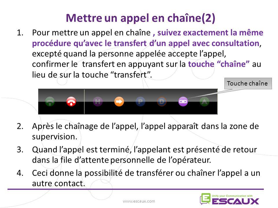 Mettre un appel en chaîne(2)