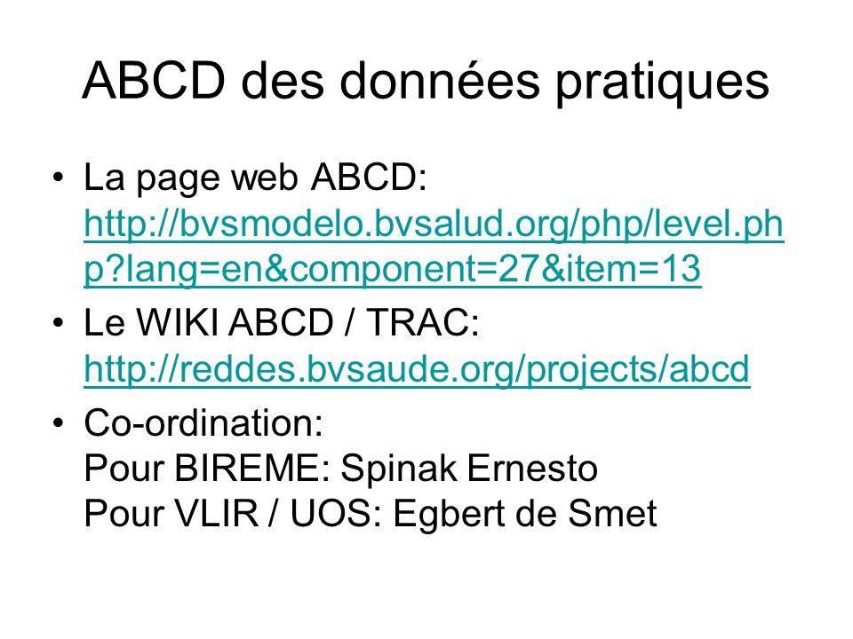 ABCD des données pratiques