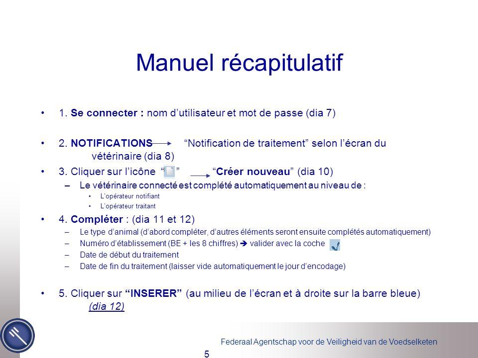 Manuel récapitulatif 1. Se connecter : nom d'utilisateur et mot de passe (dia 7)