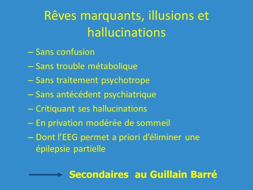 Rêves marquants, illusions et hallucinations