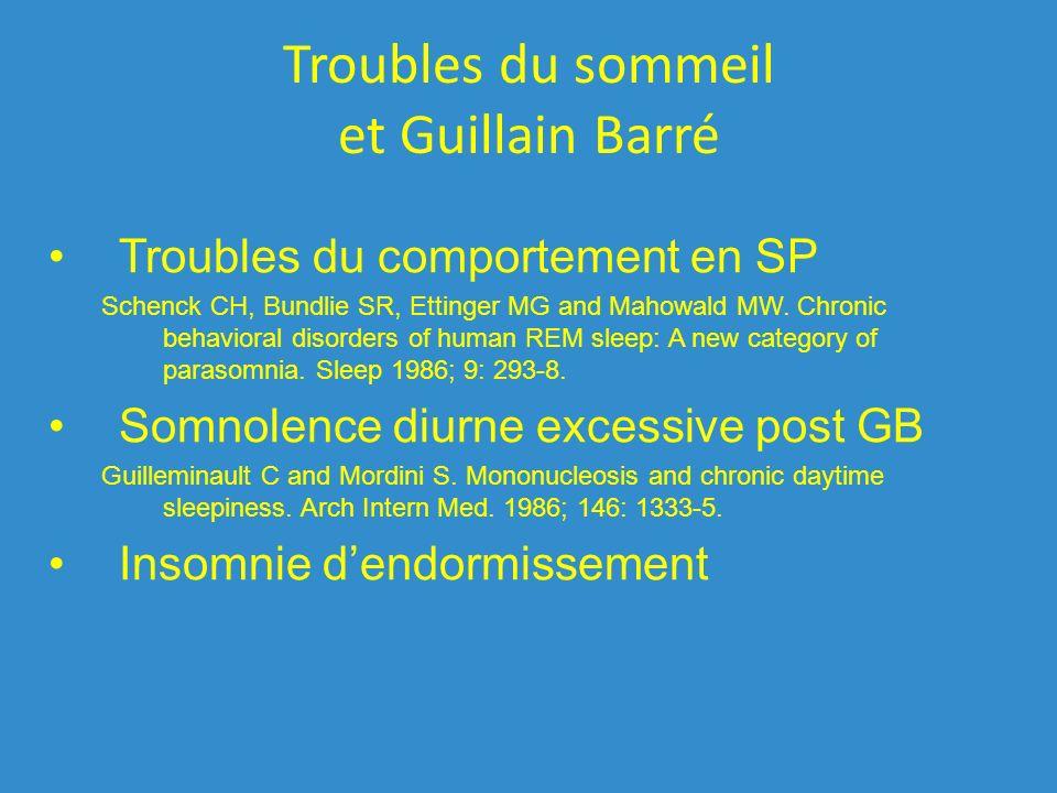 Troubles du sommeil et Guillain Barré