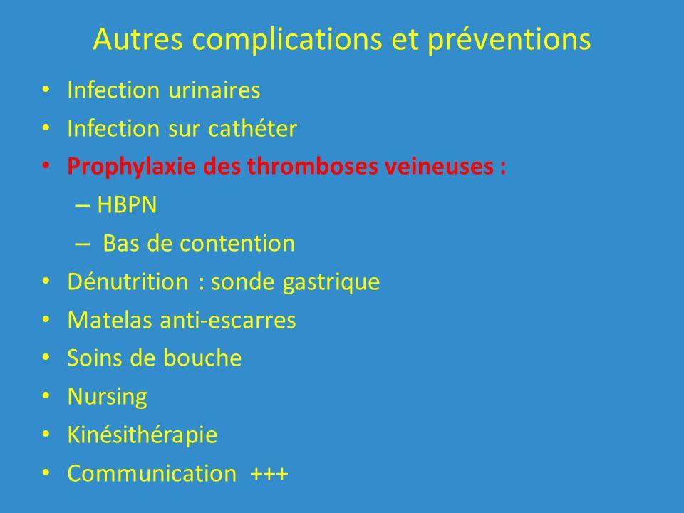 Autres complications et préventions