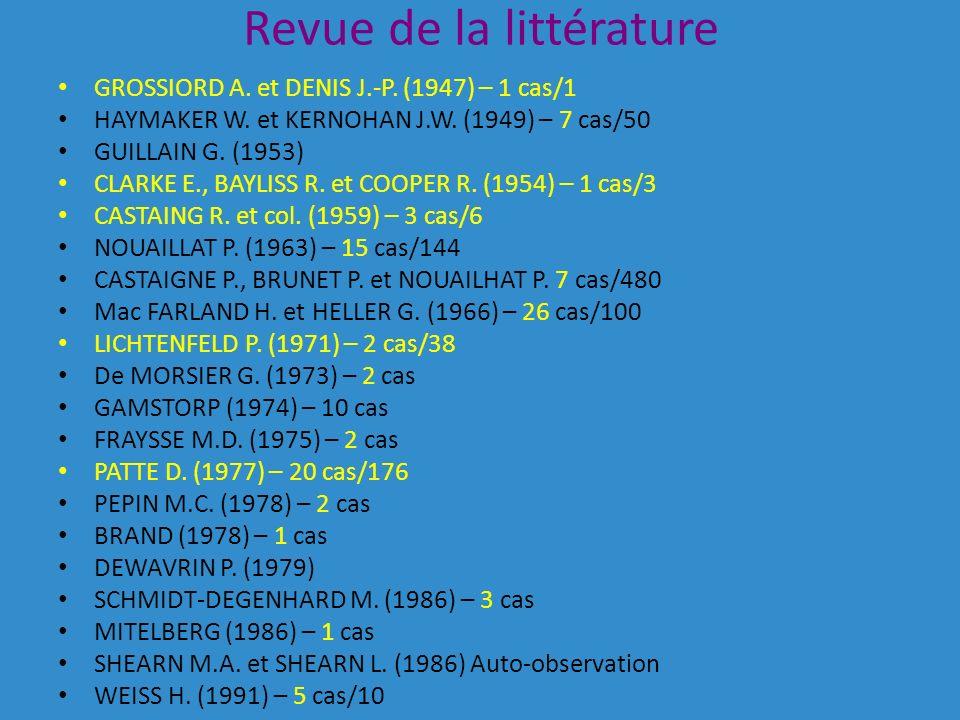 Revue de la littérature