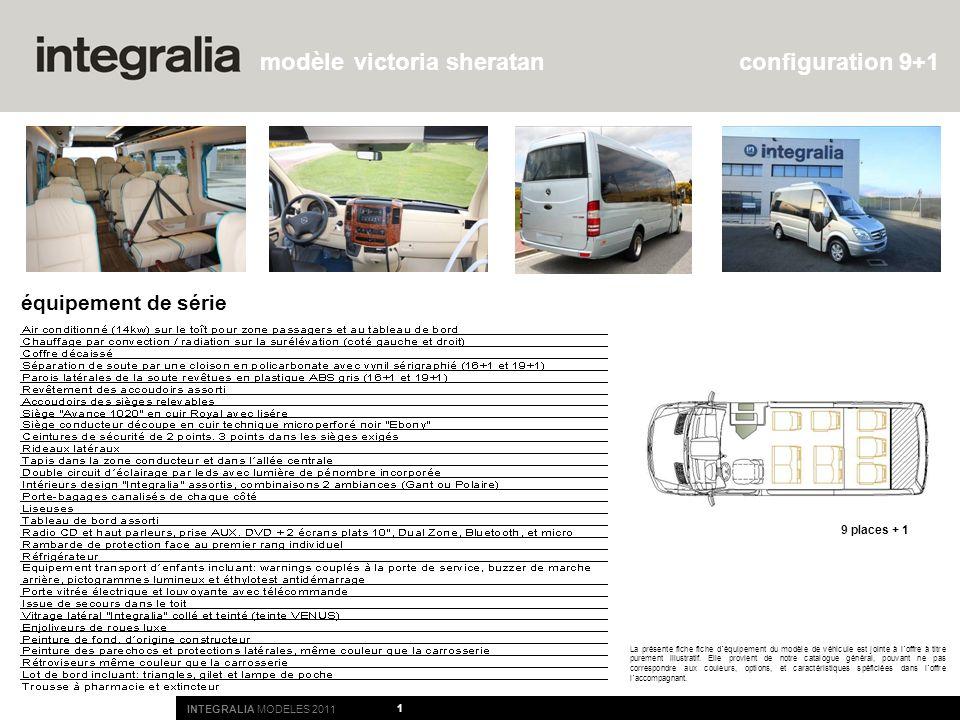 victoria sheratan configuration 9+1 équipement de série 9 places + 1
