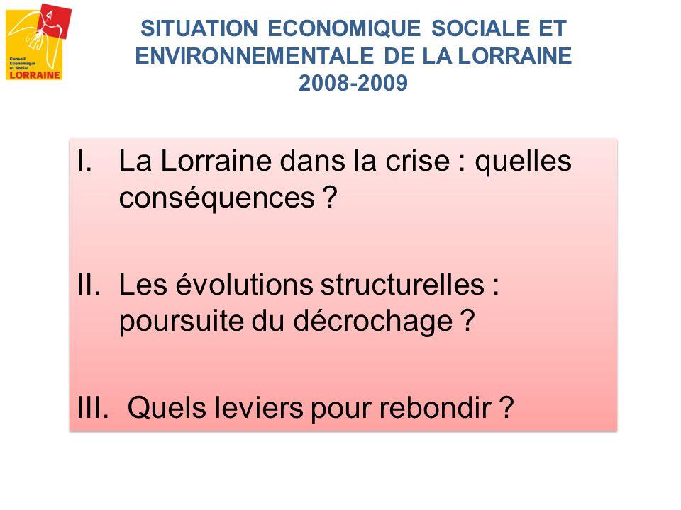SITUATION ECONOMIQUE SOCIALE ET ENVIRONNEMENTALE DE LA LORRAINE