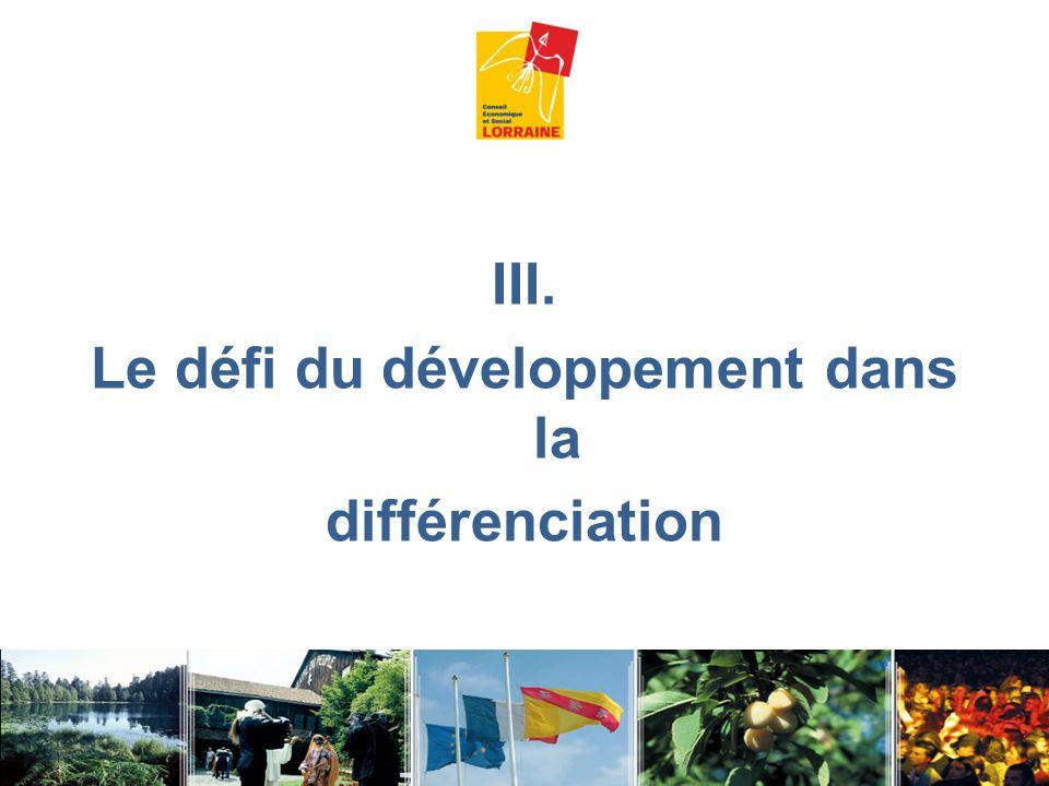 Le défi du développement dans la