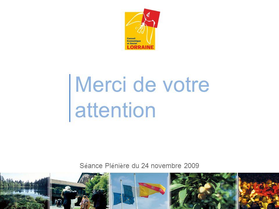 Séance Plénière du 24 novembre 2009