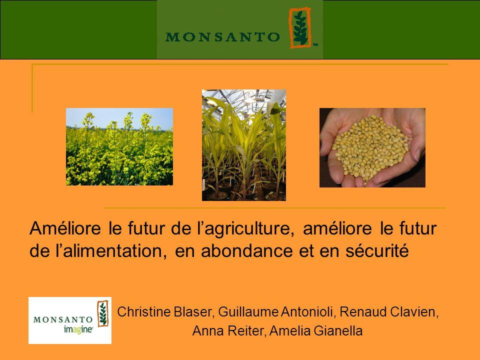Améliore le futur de l'agriculture, améliore le futur de l'alimentation, en abondance et en sécurité