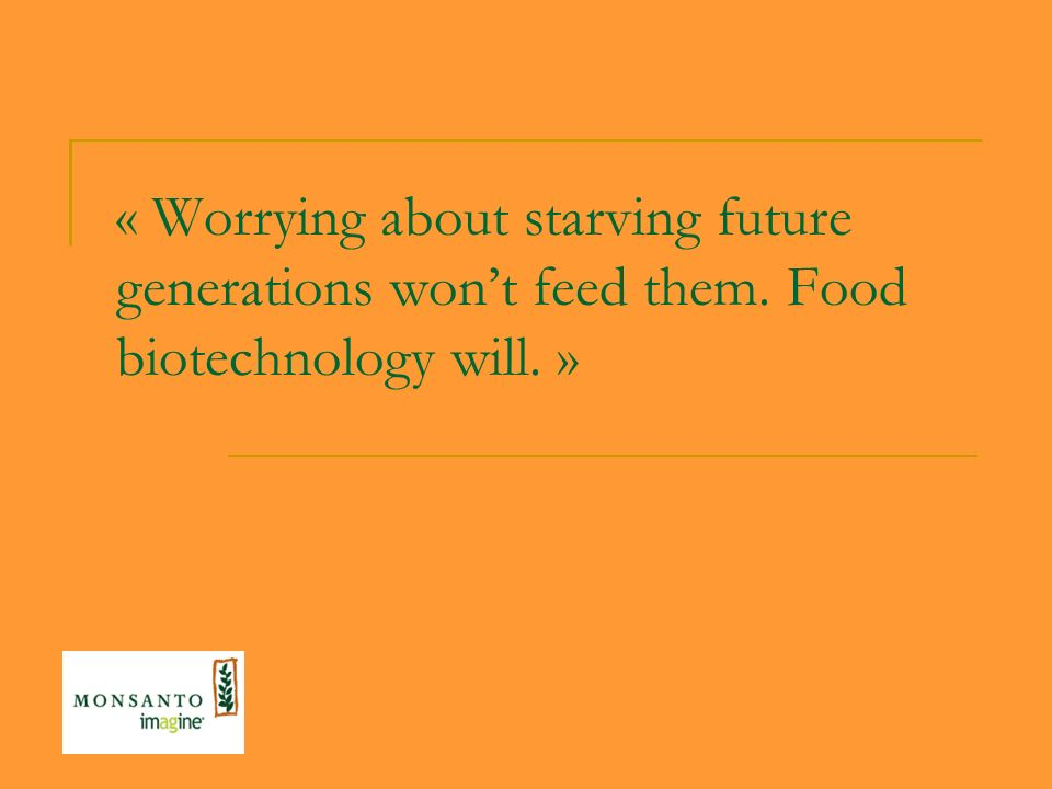 « Worrying about starving future generations won't feed them