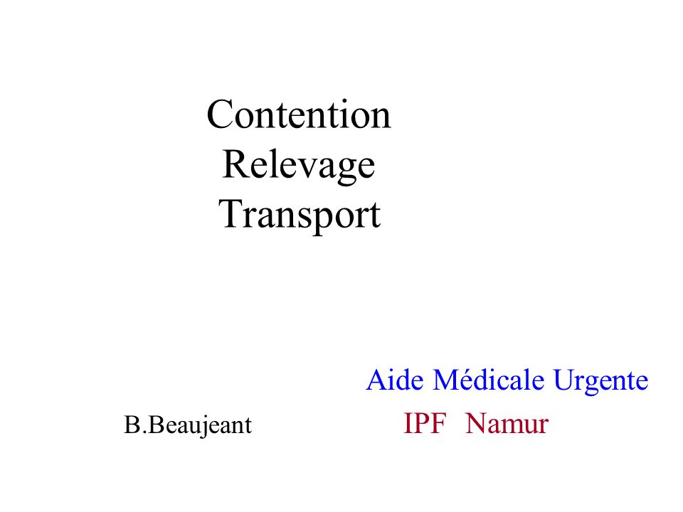 Contention Relevage Transport