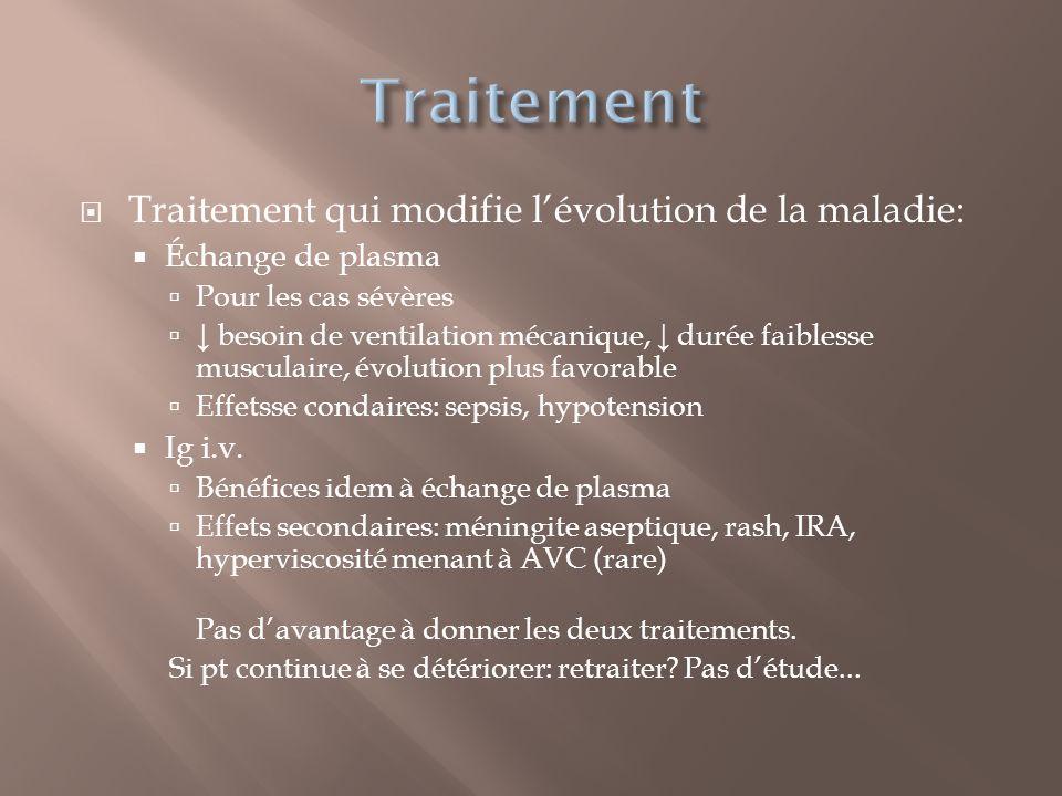 Traitement Traitement qui modifie l'évolution de la maladie: