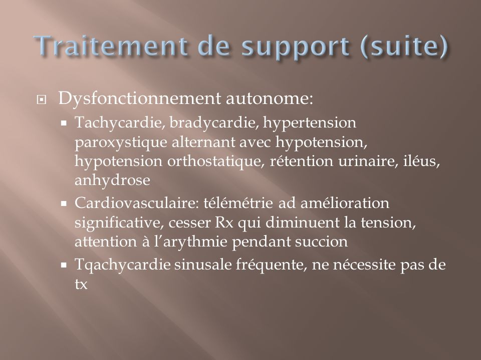 Traitement de support (suite)